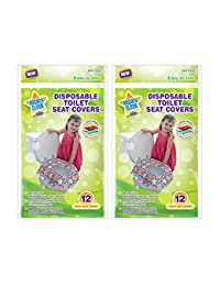 Mighty Clean Baby Disposable Toilet Seat Covers, 24 count (2 Packs of 12 Covers) BOBEBE Online Baby Store From New York to Miami and Los Angeles