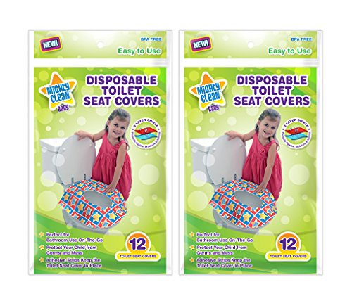Mighty Clean Baby Disposable Toilet Seat Covers, 24 count (2