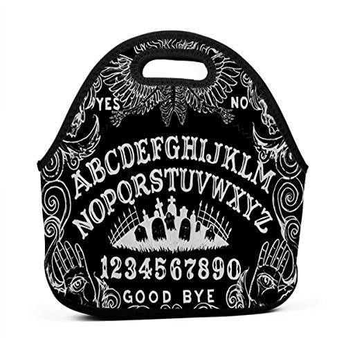 NBXIXI Witch Board Black Gothic Lunch Bags Multi-Purpose Bento Boxes Insulated and Reusable Tote Bag for Girls
