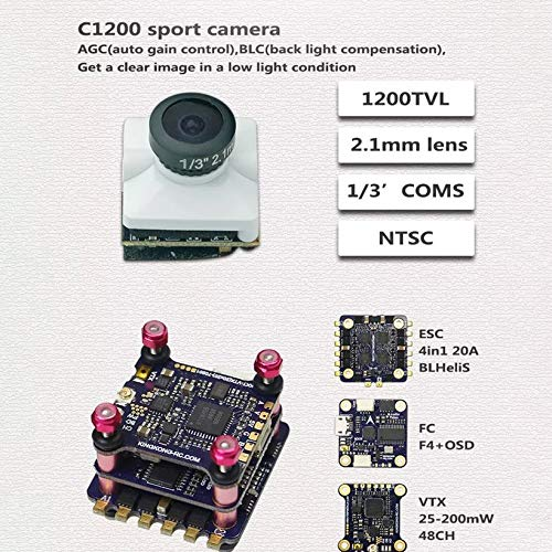 Wikiwand LDARC ET MAX 185mm 4'' 3-4S FPV Racing Drone PNP F4 Flight Controller OSD 20A by Wikiwand (Image #4)