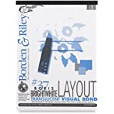 """Borden & Riley Boris Layout Paper for Markers, 11"""" x 14"""", 50 Sheets"""