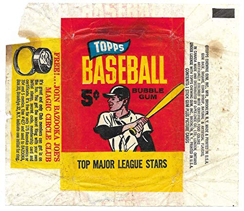 1965 Topps Baseball 5 Cent Wrapper With Magic Circle Club Ring Advertisement
