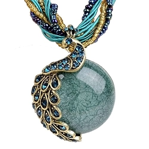 Bohemia Crystal Phoenix Peacock Necklace