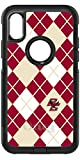Boston College Argyle design on Black OtterBox Commuter Case for iPhone X