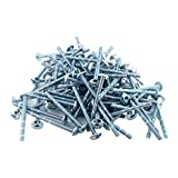 100 Pack Rok Hardware #8 x 2'' Slotted Machine Thread Phillips Sqaure Drive Break Away Long Truss Head Screws