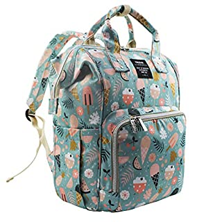 MIGER Diaper Bag Backpack Maternity Nappy Bags for Baby Care, Large Capacity Cute Bookbag for Boys Girls