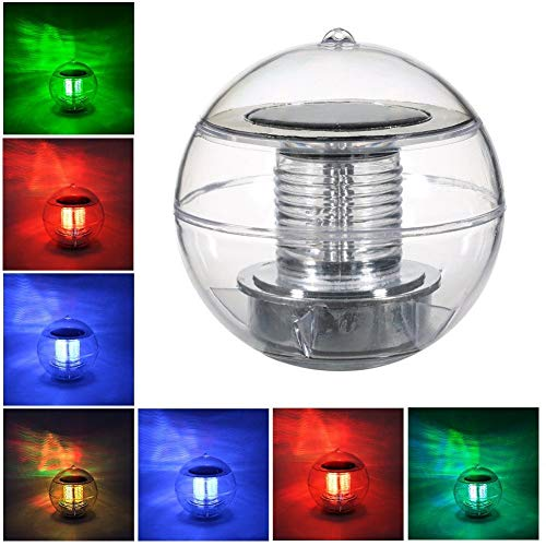 Swonuk Pool Lights Solar LED Lamp Globe Light Waterproof 7 Color Changing Floating Swimming Pool Party Decor
