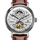 Men's Luxury Automatic Mechanical Wrist Watch (Grey Brown)