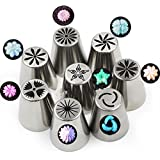 NEW Russian Tulip Tips Stainless Steel Icing Piping Nozzles Pastry Decorating Tips Cake Cupcake Decorator icing dispenser (New 8)