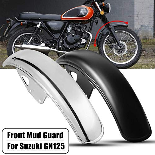 Star-Trade-Inc - 56cm 22.05inch Motorcycle Front for Fender Mud Flap Dirt Splash Guard Wheel Cover Mudguard for Suzuki GN125 ()