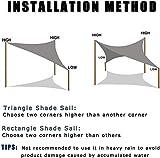 SUNNY GUARD 16' x 20' Sand Rectangle Sun Shade Sail