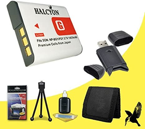 NEX-7 Sony NEX-5R NEX-F3 Alpha Digital SLR Cameras Halcyon 2200 mAH Lithium Ion Replacement NP-FW50 Battery and Charger Kit NEX-C3 NEX-5N Deluxe Starter Kit for for Sony NEX-6 Memory Card Wallet NEX-5T SDHC Card USB Reader