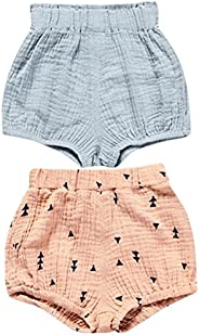 AYIYO Baby Infant Bloomer Shorts Loose Cute Harem Pants for Boys Girls