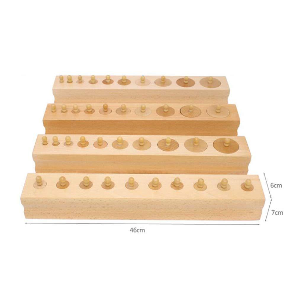 ADZPAB Juguetes para niños Bloques para niños Juguetes educativos Montessori Material didáctico Cilindro Educación temprana Rompecabezas de Madera