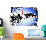 Wallmonkeys Ice Hockey Frame Wall Decal Peel and Stick Graphic WM250205 (24 in W x 17 in H)