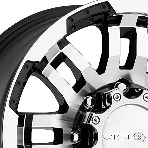 Amazon Com Vision Warrior 375 Gloss Black Machined Face Wheel 17x8