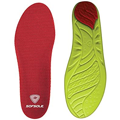 Sof Sole Women's Arch Full Length Comfort High Arch Shoe Insole, Women's Size 8-11