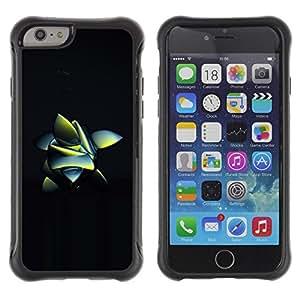 Suave TPU Caso Carcasa de Caucho Funda para Apple Iphone 6 PLUS 5.5 / abstract frog nature inspired black 3d / STRONG