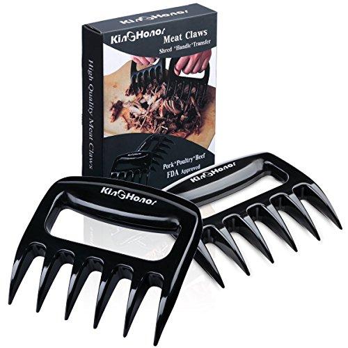 King Honor¨ Pulled Pork Shredder Meat Claws - BBQ Meat Handler Forks - Shredding Handling & Carving Food - Perfect