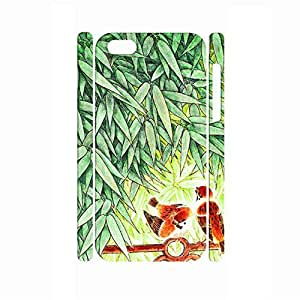 Super Slim Handmade Traditional Chinese Painting Style Bamboo Hard Phone Accessories for Iphone 5C Case