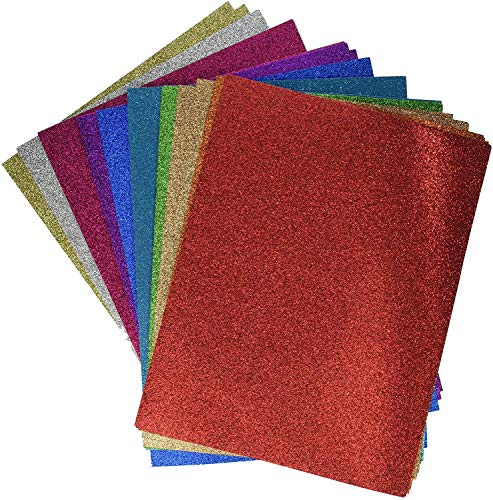 Darice GX-1700-25 8.5 x 11 Card stock Glitter silk Assortment