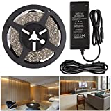 LED Strip Lights NEW VERSION 3000K Warm White, 300 Units 5050 LEDs, LED Tape, 16.4ft LED Ribbon DIY Christmas Holiday Indoor Party Home Kitchen Car Bar Decoration
