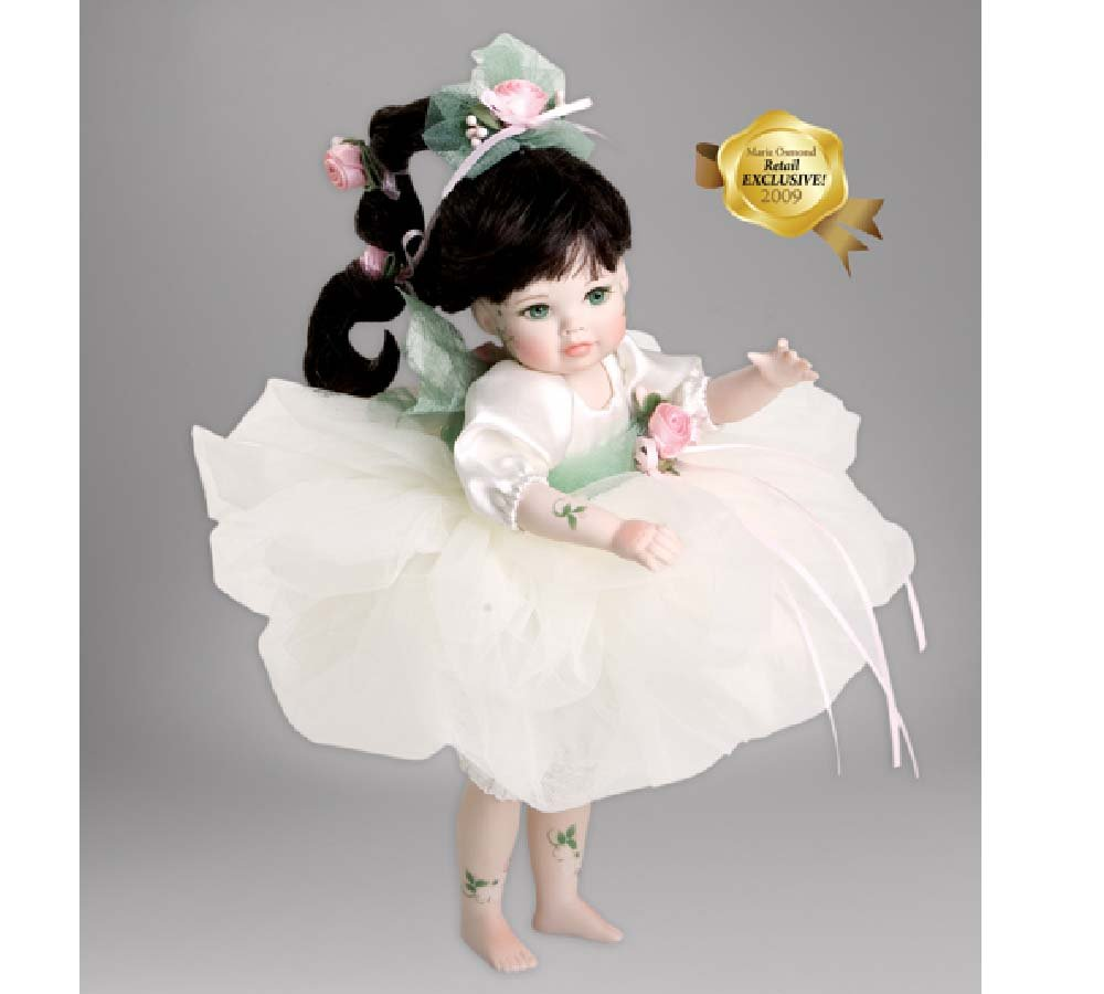 "Marie Osmond Ophelia Fairy Rosebud 8 "" Standing磁器le300   B07BCTHB8S"