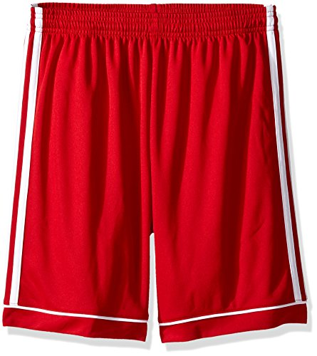 adidas Youth Squadra 17 Shorts, Power Red/White, Small