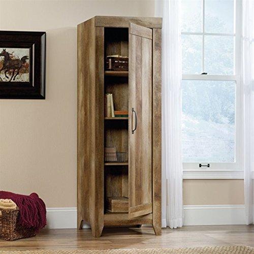 Sauder 418137 Adept Storage Narrow Storage Cabinet, L: 22.60 x W: 16.77 x H: 70.98, Craftsman Oak finish