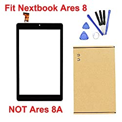 Uouo Touch Screen Replacement Glass Lens For 8 Inch Nextbook Ares 8 Nxa8qc116 Windows Tablet Pc With 8 Pcs Tools Gift