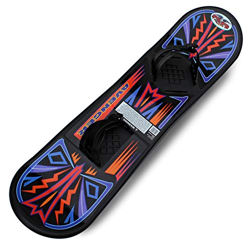 Flexible Flyer Avenger Kids Beginner Snowboard. Youth Plastic Snowboarding Toy Slider, 90 cm