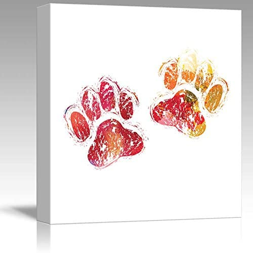 Fun and Colorful Splattered Watercolor Paw