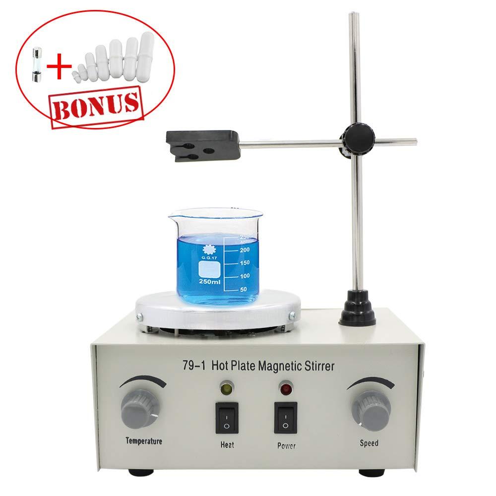 EOSAGA 79-1 Magnetism Stirrer Heating Mixer Hot Plate Magnetic Stirrer Machine with 7 PCS Stirrer Stir Bars Mixed Size Mixed Size 1000 ML by EOSAGA