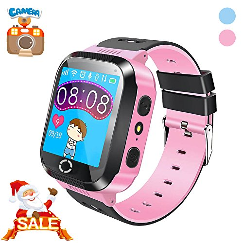 Kids Smartwatch with Camera, EiffelT Smart Watch With GPS Tracker Anti-Lost SOS Christmas Gift Watch for Girls Boys Children SmartWatch for iPhone Android Smartphone (Pink)