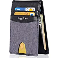 FurArt Slim Minimalist RFID Blocking Bifold Wallet