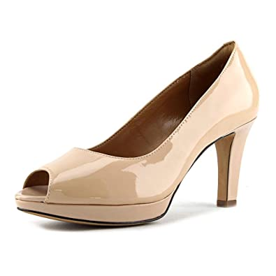 Clarks Women's Delsie Britta Pumps, UK: 5.5 UK, Nude Leather