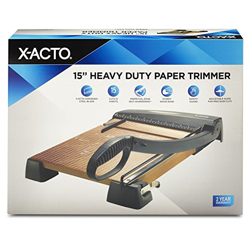 X-ACTO Heavy Duty Wood Guillotine Trimmer, 15 Inches