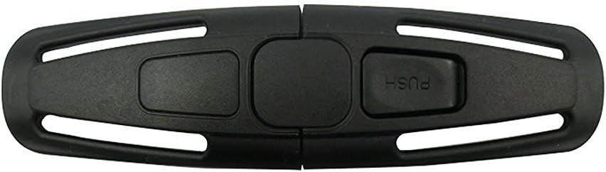 ISKIP - Hebilla para cinturón de seguridad de coche, correa de seguridad para el coche, arnés, hebilla de seguridad para bebés y niños, color negro (una unidad)