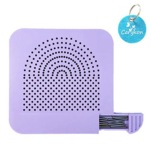 - Carykon Roll Quiller's Grid Guide Quilling Board with Pins Storage for Paper Crafting Winder Roll Square Craft DIY Tool (Board with Pins-Purple)
