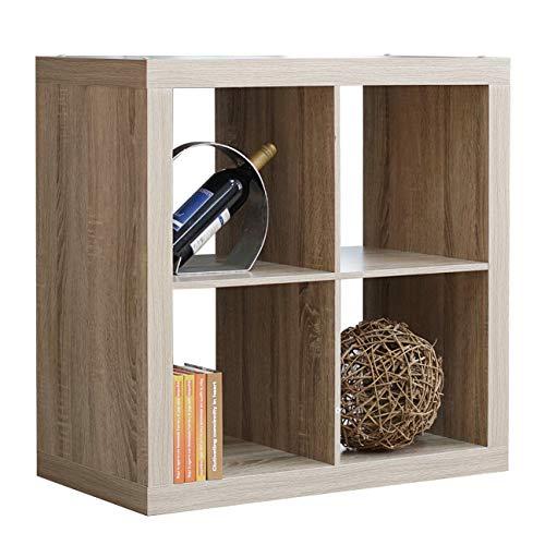 Stand Tv Corner Maple (DlandHome Storage Cube Organizer, 4-Cube (2X2) Home & Garden & Office Storage Bookcases Wooden, LHGZ303-M Maple, 1 Pack)