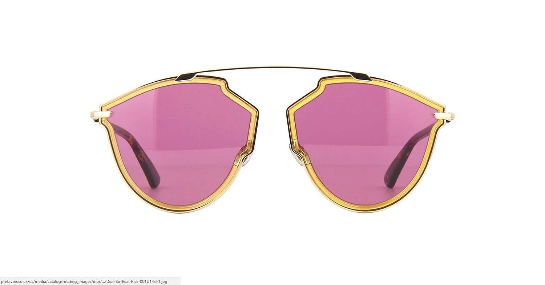 832e204f34c Amazon.com  New Christian Dior Diorsorealrise 001U1 Yellow Gold Sunglasses   Clothing
