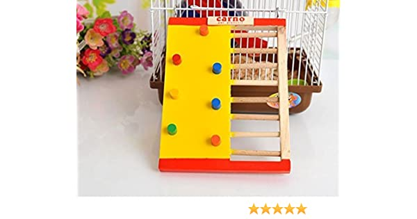 soccik hölzerne Multicolor divertido hámster Escalada Ladder Molar zubehörkleine mascotas divertidas Aufstieg Escalera Escalada Escaleras Escalera para hámster Roedores Ratones juguete Madera: Amazon.es: Productos para mascotas