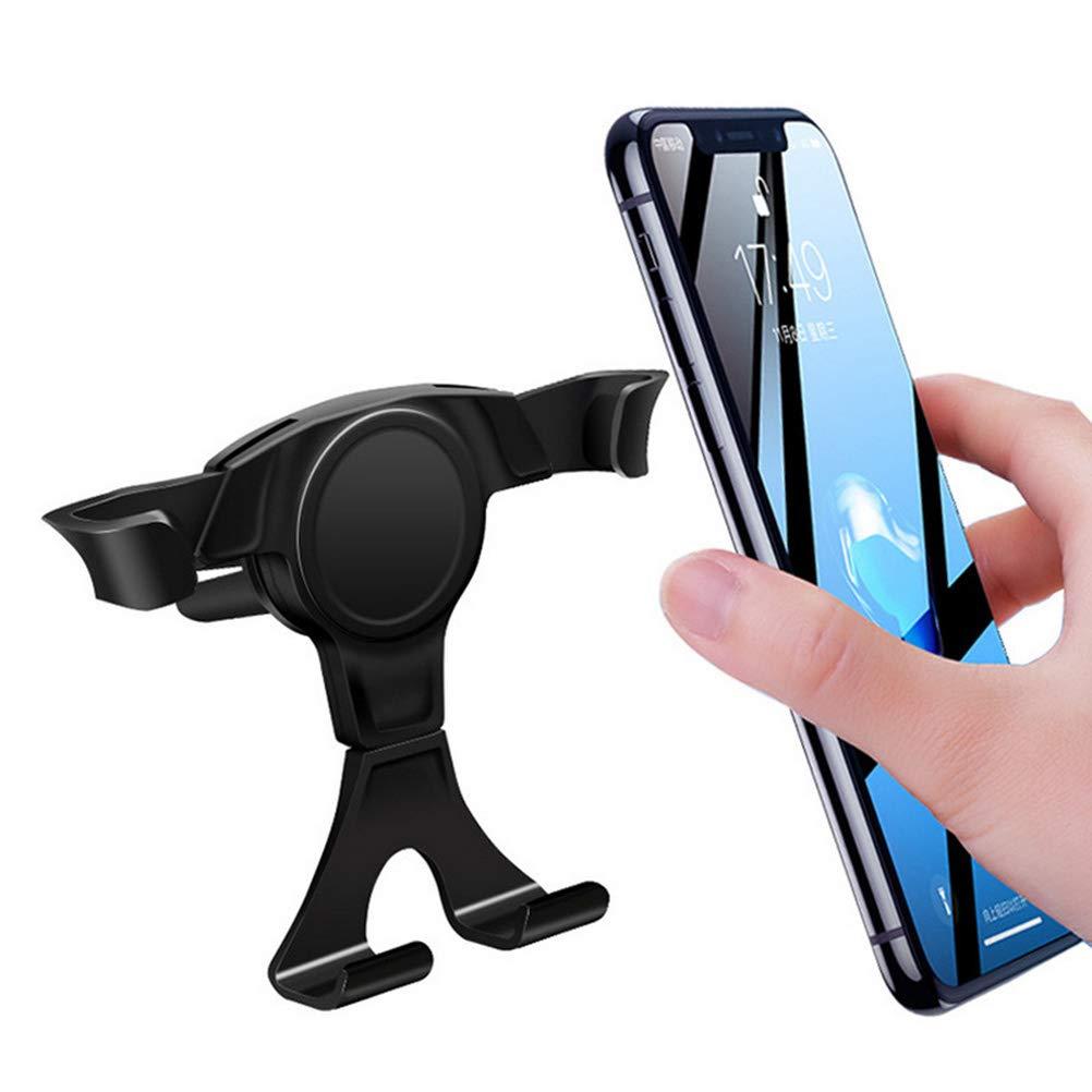 Supporto per telefono veicolare per auto nero multifunzione Supporto per uscita per veicolo gravitazionale Supporto per telefono per Samsung iPhone Huawei Smartphone