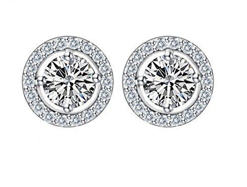 n Dot Triple Zircon Bling Earrings Fashion Earrings Valentine's Day Gift ()