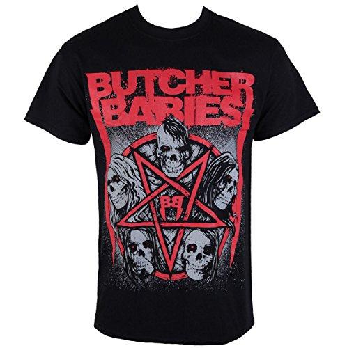 Herren T-Shirt METZGER BABYS - STAR SKULL - RAZAMATAZ - ST2041