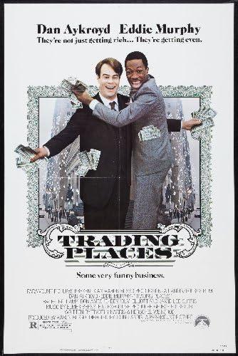 Trading places Dan Aykroyd Eddie Murphy movie poster 2