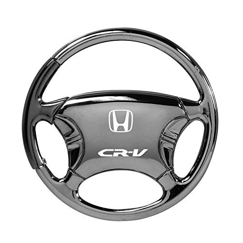 Honda CR-V Black Chrome Steering Wheel Key (Steering Wheel Keychain Ring)