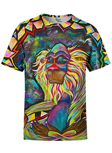 Electro Threads Crew T-Shirt • Meditating Rafiki X-Small