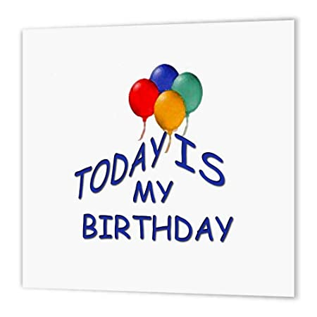 3dRose HT 3697 _ 3 Hoy es mi cumpleaños de Hierro en la ...