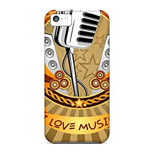Sanp On Cases Covers Protector For Iphone 5c (music)